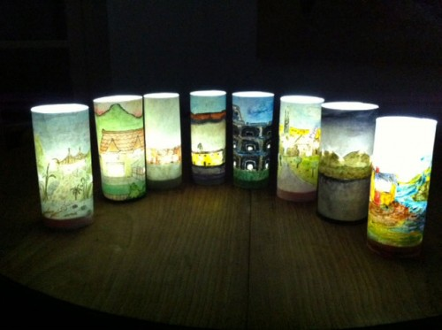 Lanterns made by the Corsham group