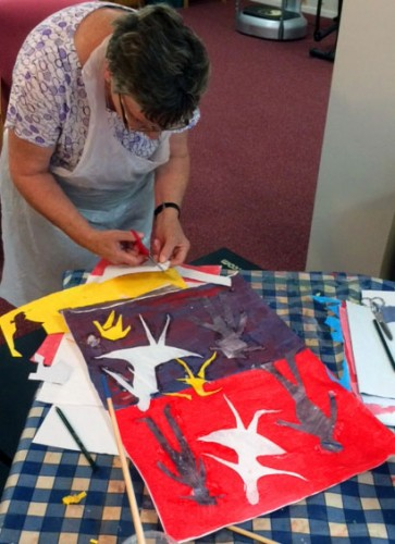 Matisse inspired collages at the Devizes group