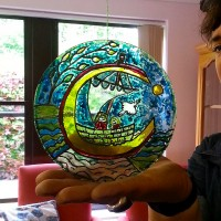 stained glass circle design