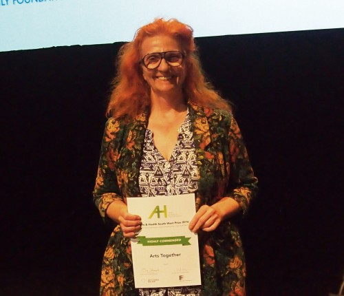 Karolyne with award