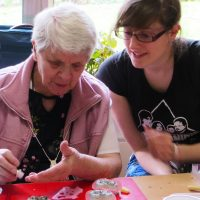 Volunteer and member at Arts Together session