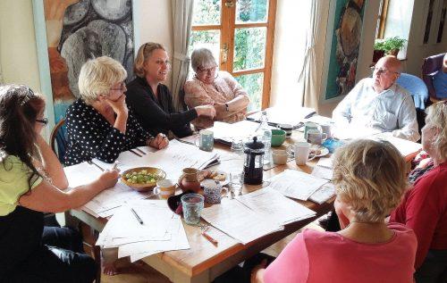 Trustee meeting in progress