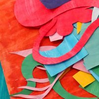 abstract collage in the style of matisse